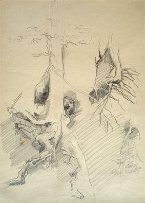 Allgäuer Skizze, 1946 (Besitzer: Dr. Friedrich Genser)