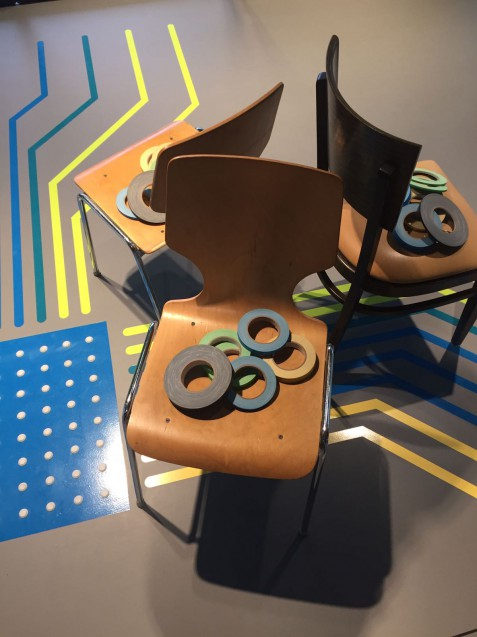 Stuhl für Kunstprojekt Tape Art