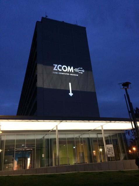 Durch die neue tolle Projektion wird das ZCOM leicht zu finden sein dank der Wohnungsgesellschaft mbH Hoyerswerda.