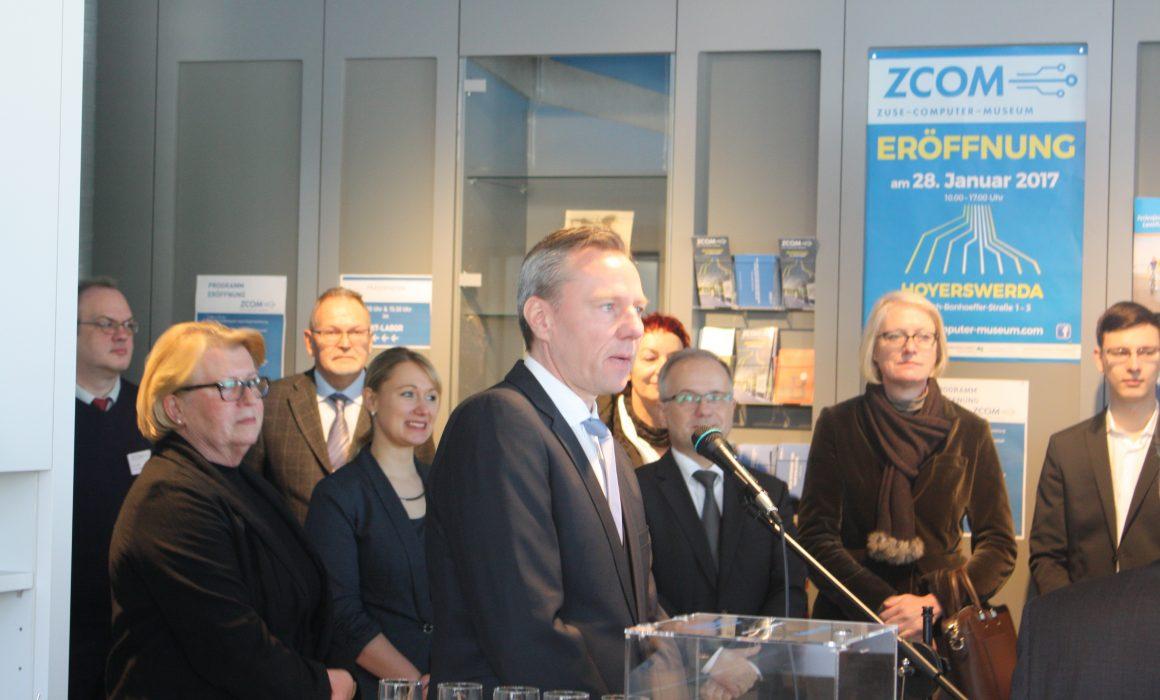 Grußwort von Herrn Lachmann Vorstand der Ostsächsischen Sparkasse Dresden (Quelle: ZCOM-Stiftung)